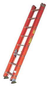 Fiberglass extension ladder 20