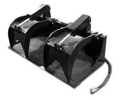 Grapple Bucket (Skidsteer) SOLID BOTTOM Image